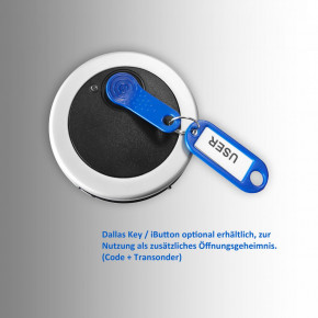 M-Locks Tastatur BRAVO BR5010 Eingabeeinheit, Metall, Tasten von oben bedienbar für niedrige Tresore, inkl. Dallas Leser / iButton reader