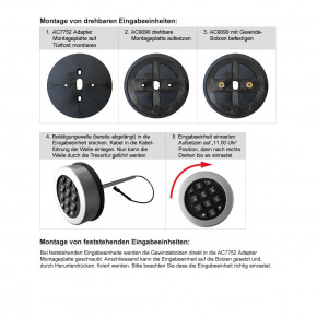 M-Locks Adapter Montageplatte AC7752 als exakte Montagehilfe für Eingabeeinheiten mit fertig vorgeschnittenen Gewindebohrungen