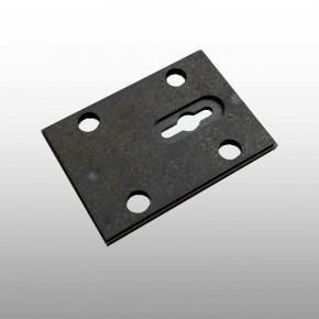 Montageplatte zum Anschweißen, Adapterplatte mit Standard- Anschraubspunkten für Tresorschlösser inkl. Schlüsselführung
