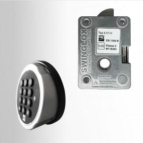 STUV SWINGLOX Elektronikschloss inkl. Schutz gegen Angriffe durch Flüssigkeiten und Durchschlagsicherung Schwenkriegelschloss Swingbolt