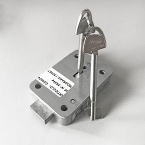 AGA Tresorschloss mit 2 Schlüsseln: 100 mm Druckguss