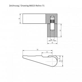 Relino 71 - Tresortürband, dormakaba 86023/0001 hochwertiges Standard- Lappenband Kaba Mauer