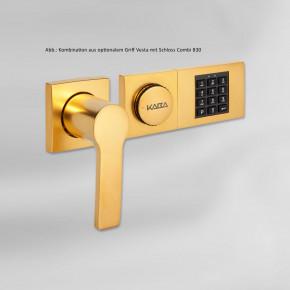 dormakaba Griff VESTA 90050 - Hängegriff passend zu Combi B30 82132 Kaba Mauer B 30, vergoldet / 8mm Vierkant 120mm lang